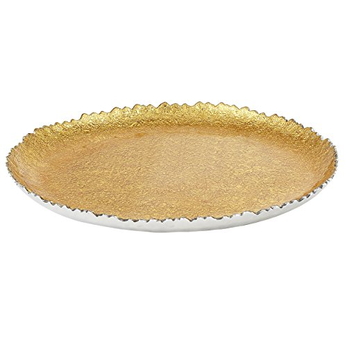 - Elegance Foil Plate, Small, Gold