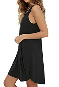 MOLERANI Women's Casual Swing Simple T-Shirt Loose Dress