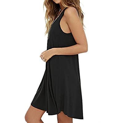 MOLERANI Women's Casual Swing Simple T-Shirt Loose Dress at Women's Clothing store