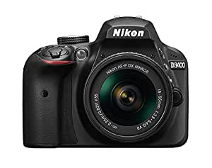 Nikon D3400 DSLR Camera w/ AF-P DX NIKKOR 18-55mm f/3.5-5.6G VR Lens - Black (Certified Refurbished)
