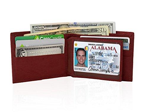 Leather For Wallet Wallet Genuine Men Genuine Leather AFONiE Bifold For AFONiE Bifold dCqBw5