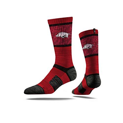 Strideline NCAA Arkansas Razorbacks Premium Athletic Crew Socks, One Size, ()