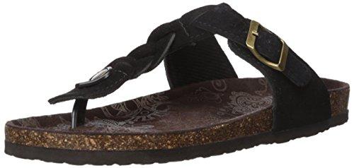 Mukluks MUK LUKS Women's Marsha Flat Sandal Black SIGrHwHt0