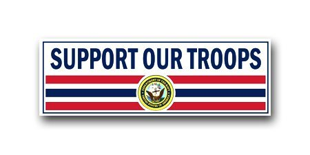 US Navy Support Our Troops Decal Sticker 6
