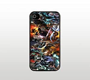 Comics Snap-On Case for Apple iPhone 4 4s - Hard Plastic - Black - Cool Custom Cover