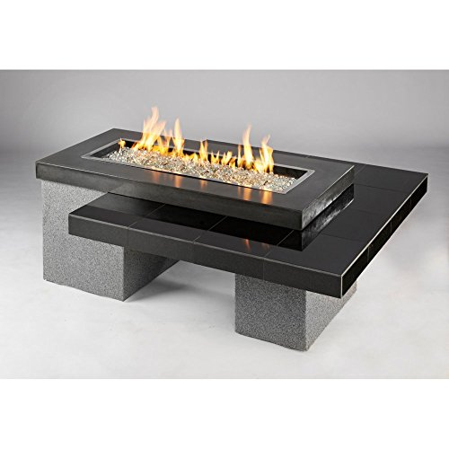 Outdoor Greatroom Uptown Gas Fire Pit with 42x12 Inch Burner, Black