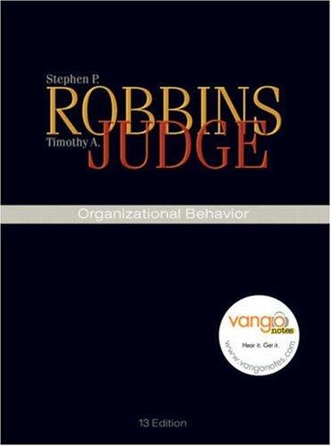 Organizational Behavior (13th Edition)