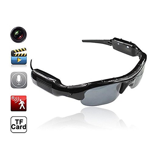 Bluetooth Sunglasses with Camera 8GB SD Card Solt HD Video Recorder Camera Glasses for Android iPhone 5s 6 6s plus 7 Samsung Galaxy S5 S6 Edge S7 Edge S8 LG Smartphones Tablets iPad