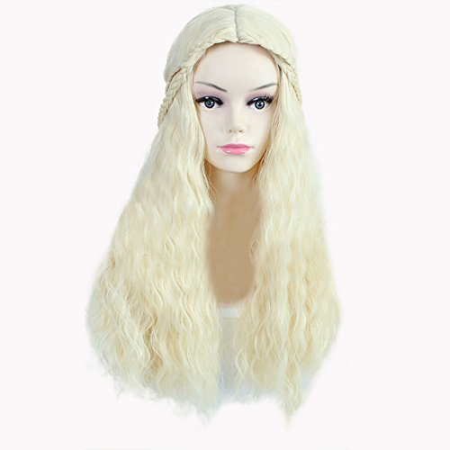 Panda hair Paula Young Wig Long Curly Cosplay Wig - Halloween Party Use Wig for Women with Free Wig Cap