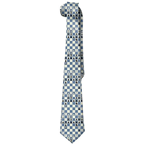 Men's Chess Checkerboard Novelty Necktie Classic Skinny Tie For Wedding Prom Party