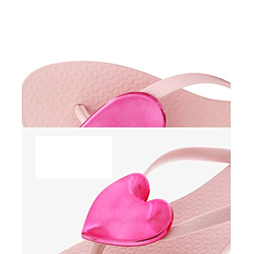 CN35 Rosa para 5 UK3 Rosa Rosa Chanclas EU36 Pantofole Mujer Rw8qfqa