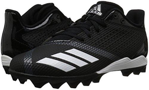 adidas Unisex 5-Star md Football Shoe, Black/White/Night Metallic, 6 M US Big Kid by adidas (Image #5)