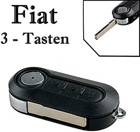 1x Ersatz Klappschlüssel Auto Schlüssel Gehäuse Für 3 Tasten Funk Fernbedienung Mit Rohling Fiat Ks11 Neu Auto