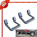 [Fengo] A Pair of Premium Silver Universal Nerf Side Steps - Adjustable + Strong Light Aluminum + 350LBs Load Capacity (1974-1993 Dodge Full Size Pickup)