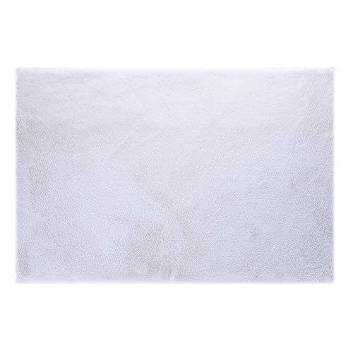 (LOCHAS Ultra Soft Faux Fur Area Rugs for Bedroom 3x5 Feet, Fluffy Bedside Rug for Kids Room Nursery Rugs Living Room Carpets Floor, White)