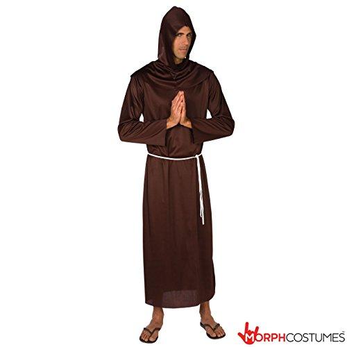 Vicar Halloween Costume (Mens Medieval Monk Robe Costume - Cheap Costume)