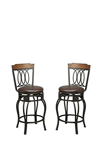 Bar Stool Swivel Country (Poundex PDEX-F1523 Bobkona Earline 24