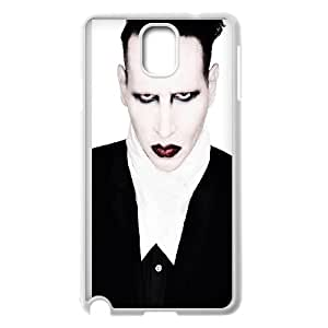 Marilyn Manson Samsung Galaxy Note 3 Cell Phone Case White Dekbg