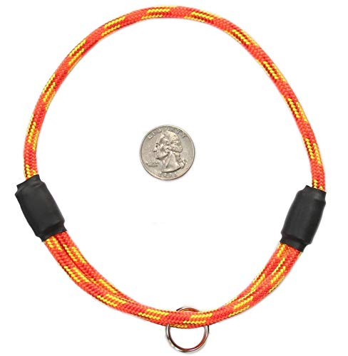 National Leash Thin Mountain Rope Dog ID Collar- Firecracker - Medium Size- The Original Snickers Collar