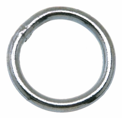 Campbell T7660961 Welded Ring, Zinc Plated, #2 Trade, 1-1/2'' ID, 0.26'' Wire Size, 200 lbs Load Capacity