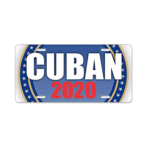 AhuiA-Cuban 2020 Gifts Custom Personalized Aluminum Metal Novelty License Plate Cover Front Auto Car Accessories Vanity Tag- 6x12 Inches