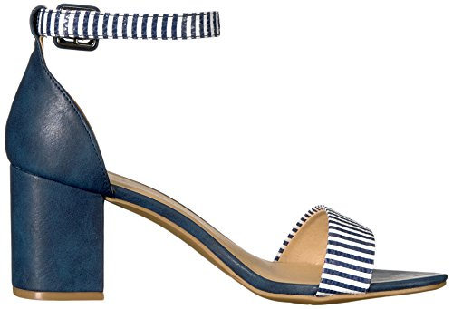 Navy Laundry Stripe CL Block by Snake Chinese Dress Heel Jody Sandal Women's aFFzZOq