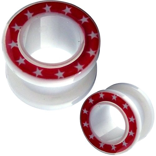1 Pair of 4g 5mm 4 Gauges Gauge Flesh Tunnels Flesh Tunnel Screw Double Flare Flared Stretching Ear Plugs Gauges Stretcher Expander Body Piercing Jewelry Ear Plug Earlets Expanders Ears Earring Earrings (4g = 5mm)