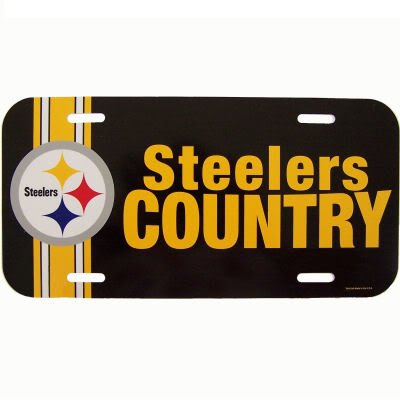 Wincraft NFL Pittsburgh Steelers 69318091 License Plate