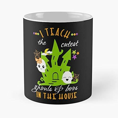 Halloween Teacher Men Cute Saying Trick Or Treat - Gift Coffee Mug 11 Oz Funny