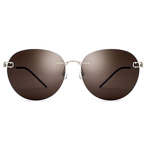 los de Gafas protección del de funcionamiento béisbol sol la para forma TAC de gafas TR90 hombres personalidad que el ULTRAVIOLETA redonda Retro de de conducir la sol Marrón la de un polarizadas de completa 7qw7x0d