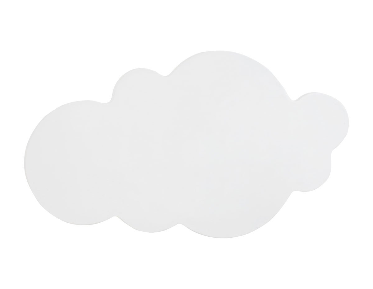 Bainba Aplique de Pared en Forma de Nube E27, Rosa, 48 x 26cm [Clase de eficiencia energética A++] Crealber A9997NR