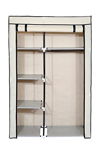 """Homebi Closet Wardrobe Clothes Closet System Non-woven Fabric Clothes Rack Portable Storage Organizer with Shelves and Hanging Rod,41.14""""W x 18.0"""" D x 62.2""""H"""