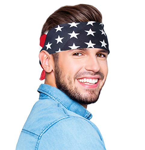 Olympic Costume Ideas - American Flag Bandana Headband USA Flag