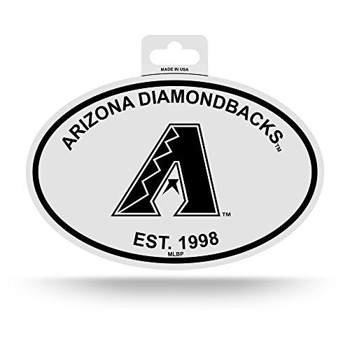 Rico Arizona Diamondbacks Oval Decal Sticker Black and White Car Window Established 1998