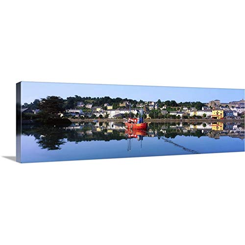 """GREATBIGCANVAS Gallery-Wrapped Canvas Entitled Kinsale Harbour, Co Cork, Ireland by The Irish Image Collection 36""""x12"""""""