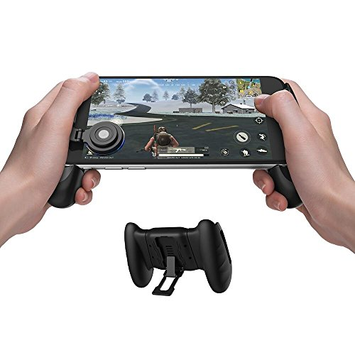 GameSir F1 Grip Game Controller Mobile Joystick Gamepad, Ergonomic Design Handle Holder Handgrip Stand for PUBG Fortnite Red Dead: Redemption, Support 5.5''-6.5'' Smartphone (Black)