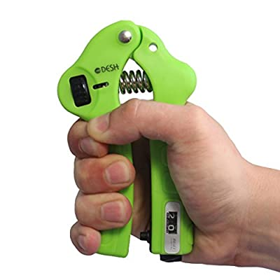 DESH Adjustable Hand Grip Strengthener Strength Trainer with Counter Great Hand Grip Exerciser for Men and Women