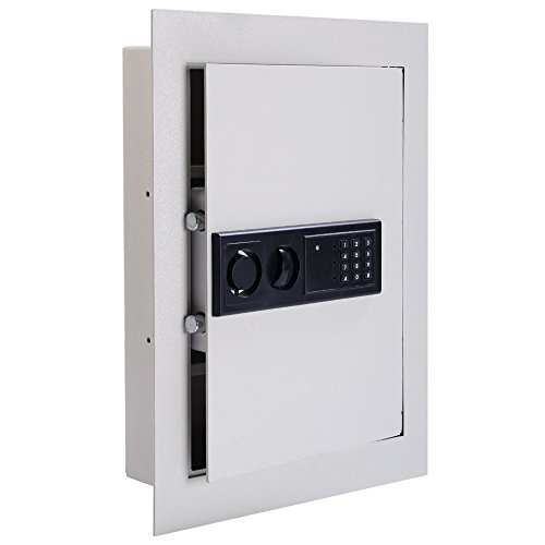 LTL Shop 0.8CF Digital Flat Recessed Wall Safe Home Security Lock Box - National Outlet Harbor In