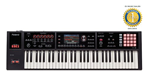 Roland FA-06 61-key Music Workstation with 1 Year Free Extended Warranty (Roland Fantom Fa 06 Music Synthesizer Workstation)