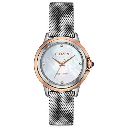 Ladies' Citizen Eco-Drive Ceci Diamond Two-Tone Watch EM0796-59Y