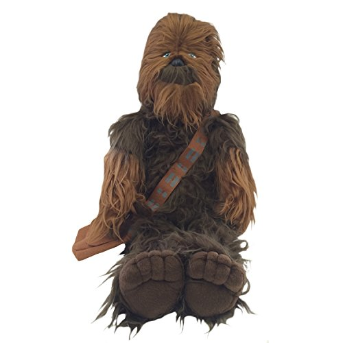 Jay Franco Plush Stuffed Chewbacca Pillow Buddy - Kids Super Soft Polyester Microfiber, 24 inch (Official Star Wars Product), B]()