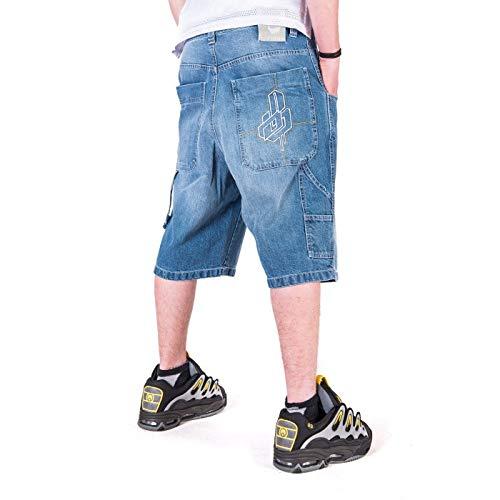 Bermuda BLUESKIN Jeans Baggy THEBLUESKIN Skate Rap Hip Hop  Amazon.it   Abbigliamento f4004ae058b2