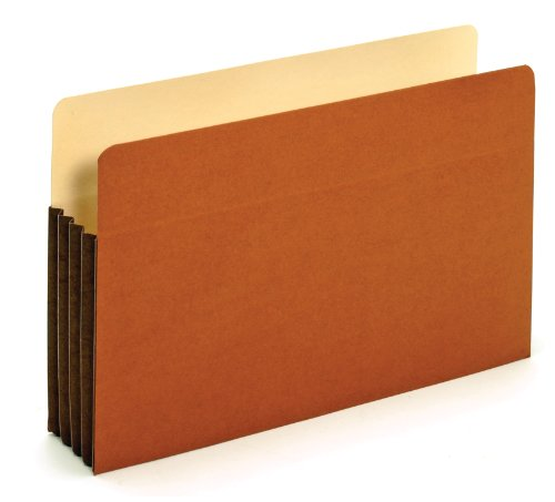 Globe Weis Tyvek Pockets (Globe-Weis Tyvek Gusseted File Pockets, 3.5-Inch Expansion, Legal Size, Brown, Box of 25 (C1526E))