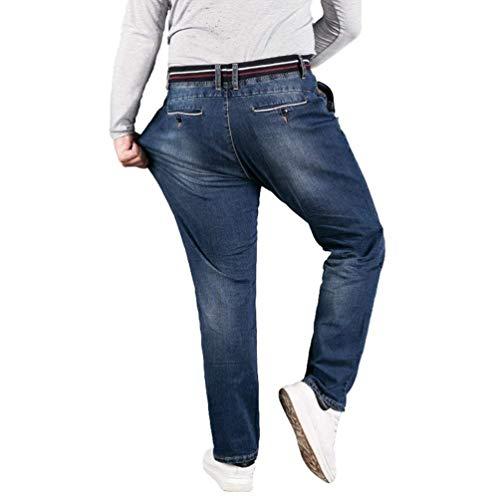 Jogging 88 Coulisse Da Jeans Denim T Blau Especial Vintage E Elastico Pantaloni Estilo Uomo Casual Vita Con Bobo In CZqBdxwq