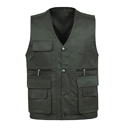 tela Gift Father's Day Buena Gilet Summer Wear Multifunction Mens for To Zhhlaixing Both Verde Vest Sides Fishing and Thin Photography 5nFxUq4wTZ