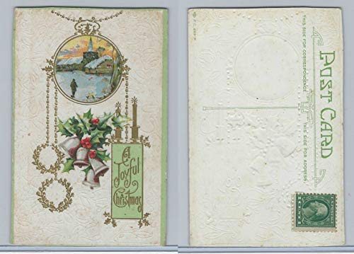 Postcard, Other, A Joyful Christmas, Bells, 1920