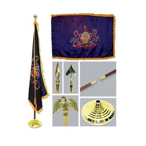 Pennsylvania 3ft x 5ft Flag Flagpole Base and Tassel