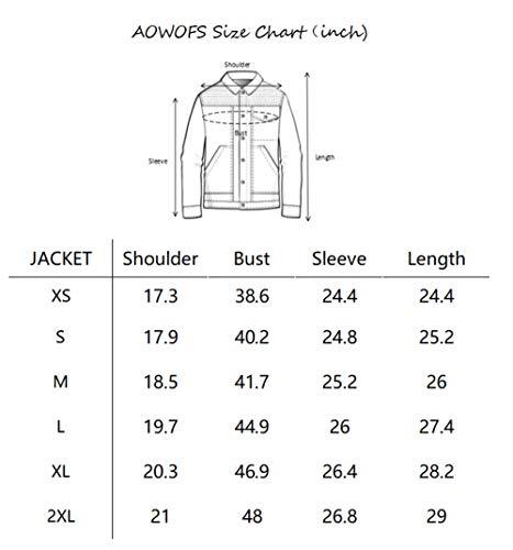 AOWOFS Men's Faux Leather Jacket Double Belt Punk Motorcycle Zip Slim Fit Black