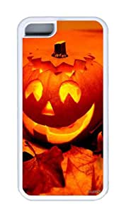 Customized Case Funny Pumpkin TPU White for Apple iPhone 5C