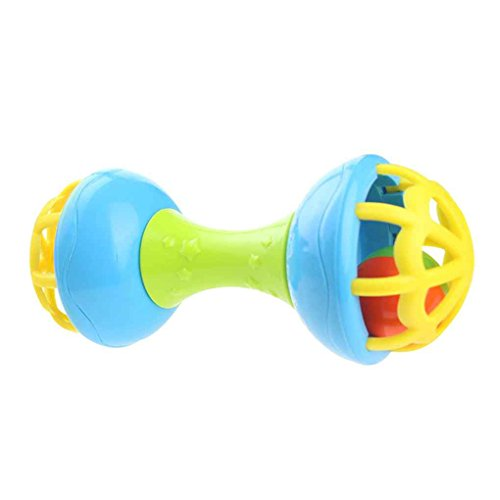 Topfire Double-end Baby Rattle Toys Little Loud Bell Ball Toy Newborn Grasping Toy Handbells Ring Handle Toys